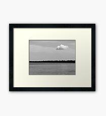 A Single Cloud Black and White Framed Print