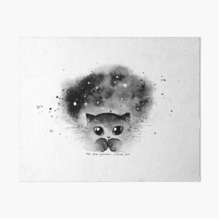 Inktober 2017 - Galaxy Cat Art Board Print