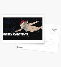 Rick and Morty Merry Christmas Postcards
