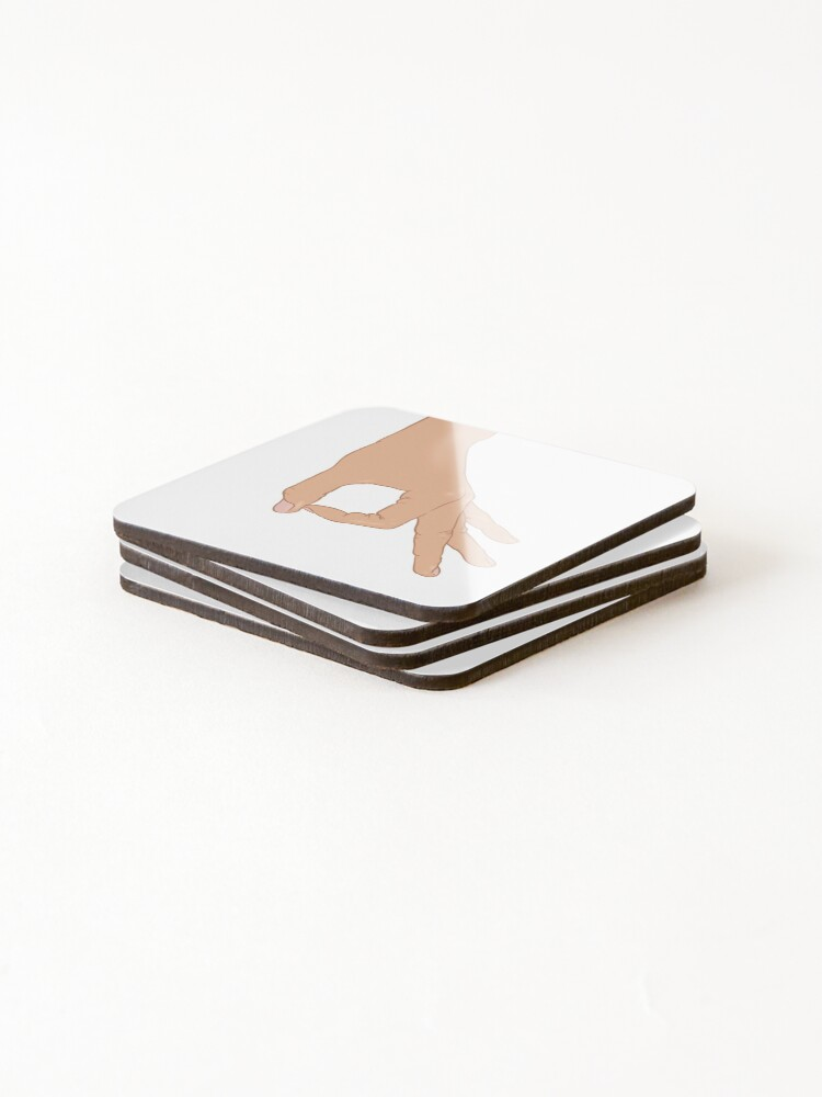 Alternate view of The Circle Finger Game Coasters (Set of 4)