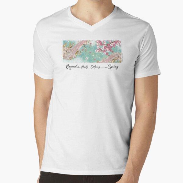 Beyon the Clouds - Sakura V-Neck T-Shirt