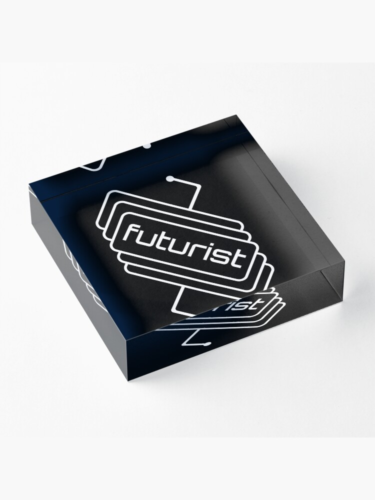 Alternate view of Futurist Circuit Acrylic Block