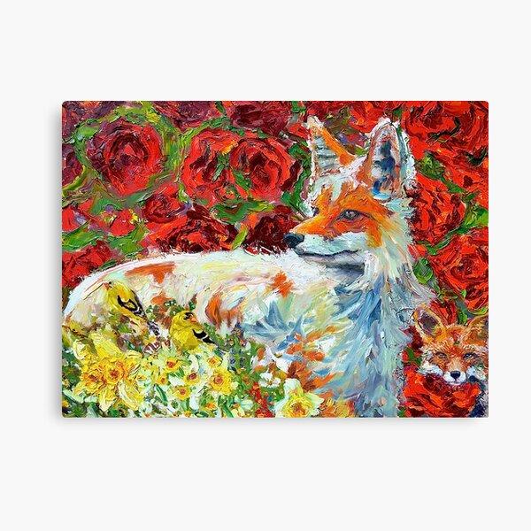 Mamma Fox Canvas Print