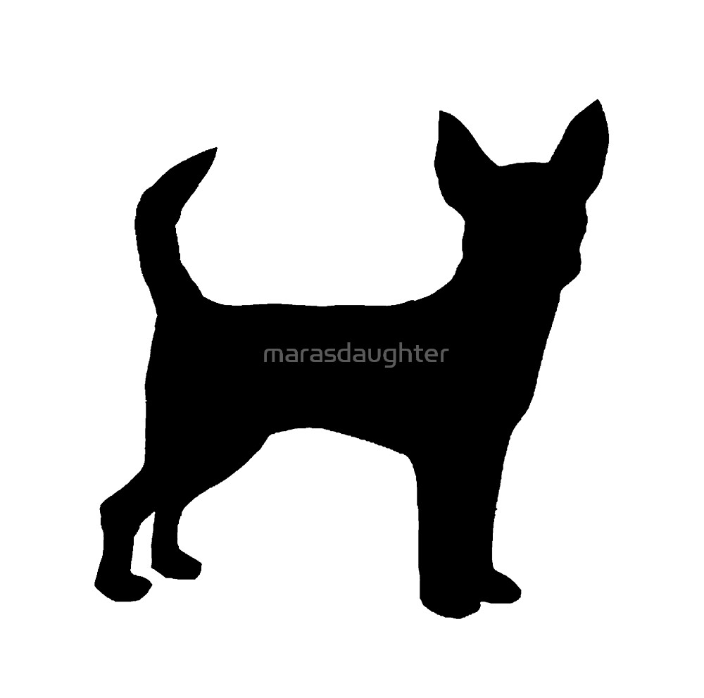 chihuahua silhouette by marasdaughter