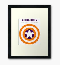 Cycling -  Superpower, Riding Bikes Framed Print