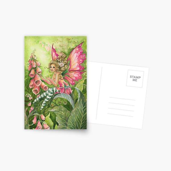 Foxglove Fairy Postkarte