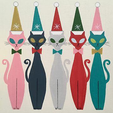Multicolor Kitty Santa by elgatogomez