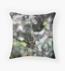 Golden Orb Throw Pillow
