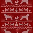 Ugly Christmas sweater dog edition - American Staffordshire Terrier red by Camilla Mikaela Häggblom