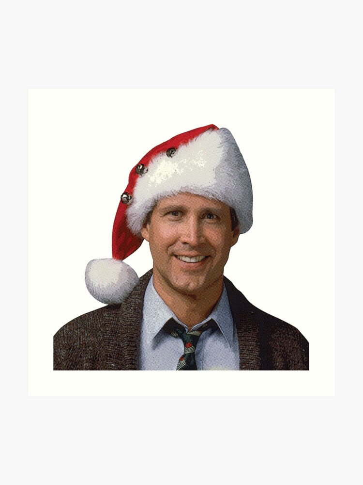 Clark Christmas Vacation Costume.Clark Griswold National Lampoon S 1989 Christmas Vacation Movie Santa Hat Art Print