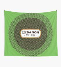Lebanon   Retro Badge Wall Tapestry