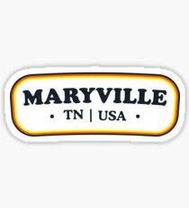Maryville   Retro Badge Sticker