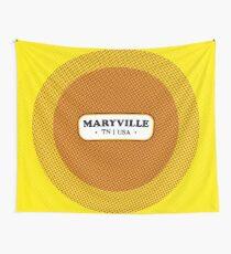 Maryville   Retro Badge Wall Tapestry