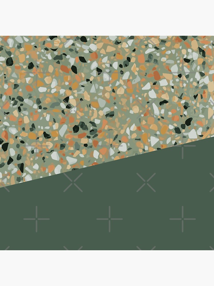 Terrazzo Texture Military Green #4 by PrintablesP