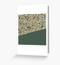 Terrazzo Texture Military Green #4 Greeting Card