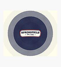 Springfield | Retro Badge Photographic Print