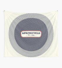 Springfield   Retro Badge Wall Tapestry