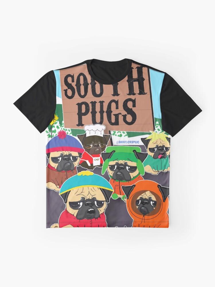 Alternative Ansicht von SÜD-PUGS Grafik T-Shirt