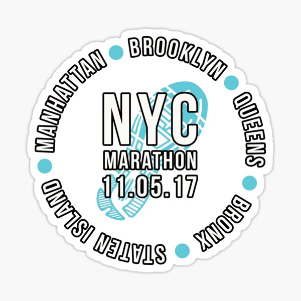 NYC New York City Marathon 2017 Sticker