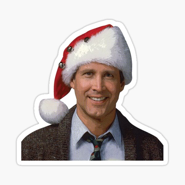 Clark Griswold National Lampoon's 1989 Christmas Vacation movie santa hat Sticker
