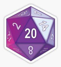 Purple Translucent D20 Sticker