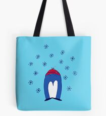 Blue Penguin in the Snow Tote Bag
