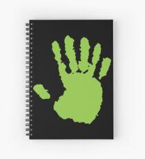 alien hand Spiral Notebook