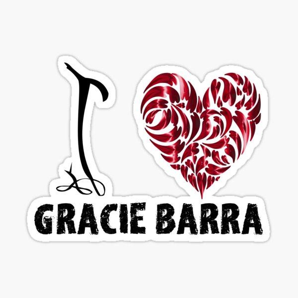 Gracie Barra T Shirt Design I Love Gracie Barra Sticker
