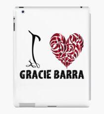 Gracie Barra T Shirt Design I Love Gracie Barra iPad Case/Skin