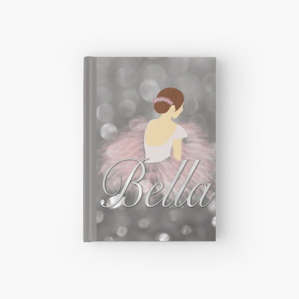 Ballerina Personalized Bella Brunette Hardcover Journal