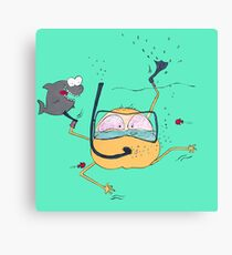 Eddie is having a fantastic day Canvas Print