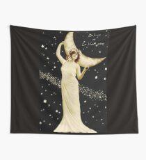 La Lune et La Voie Lactee Vintage Print Wall Tapestry