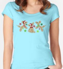 Balloon Animal Holiday Cookies Women's Fitted Scoop T-Shirt