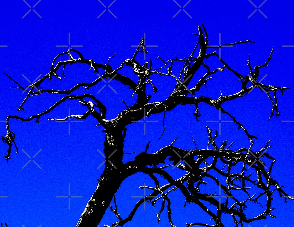 Spooky Tree in blue by Kimberly Miller