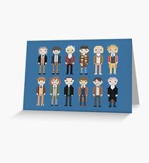 12 Little Doctors  Greeting Card
