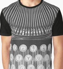 Vintage Typewriter Study Graphic T-Shirt
