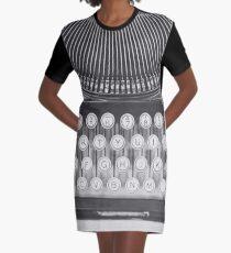 Vintage Typewriter Study Graphic T-Shirt Dress