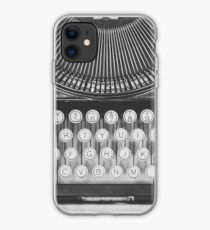 Vintage Typewriter Study iPhone Case