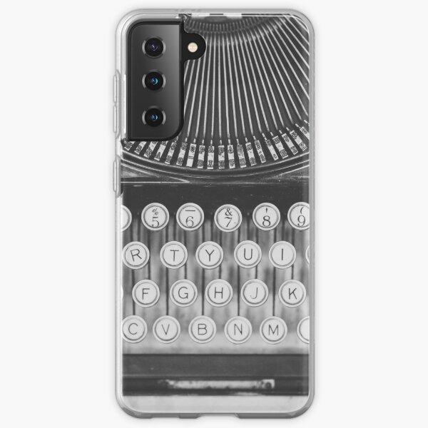 Fotografía de bodegón de una máquina de escribir vintage. Funda blanda para Samsung Galaxy