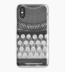 Vintage Typewriter Study iPhone Case/Skin