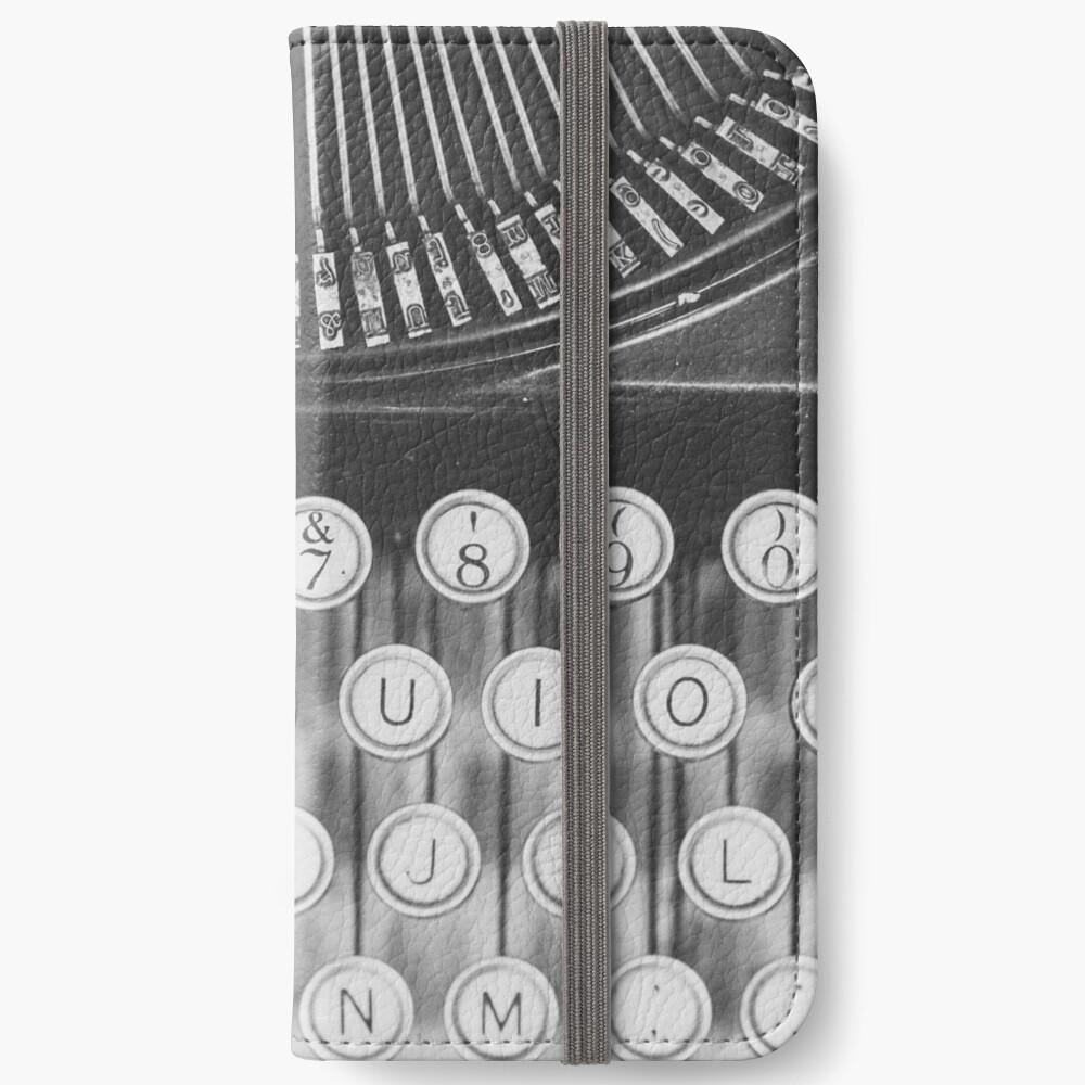 Vintage Schreibmaschinenstudie iPhone Flip-Case