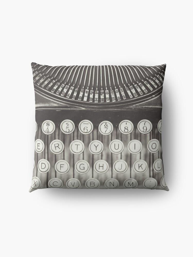 Alternative Ansicht von Vintage Schreibmaschinenstudie Bodenkissen