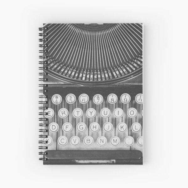 Vintage Schreibmaschinenstudie Spiralblock
