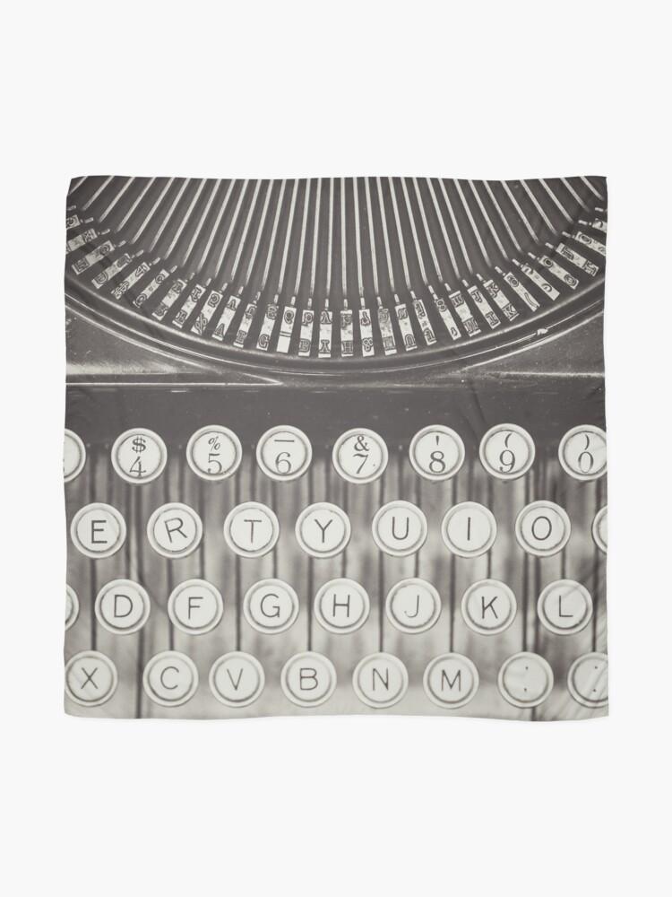 Alternate view of Vintage Typewriter Study Scarf