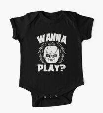 Body de manga corta para bebé ¿QUIERES JUGAR?