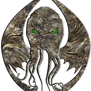 H P Lovecraft's Cthulhu - stone seal by mime666