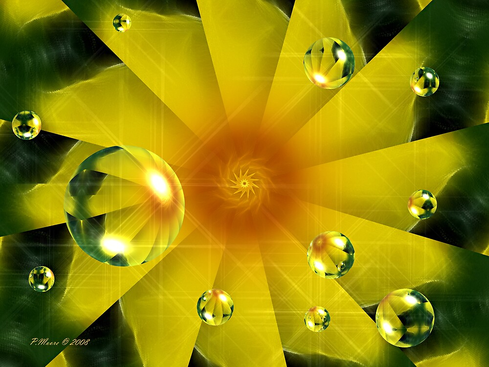 Twirl of Glowing Yellow by Pat Moore