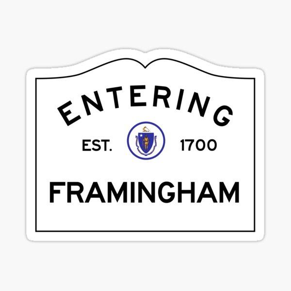 Entering Framingham - Commonwealth of Massachusetts Sticker