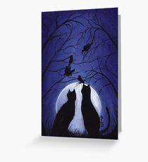 Listen to the Silence at Night Greeting Card
