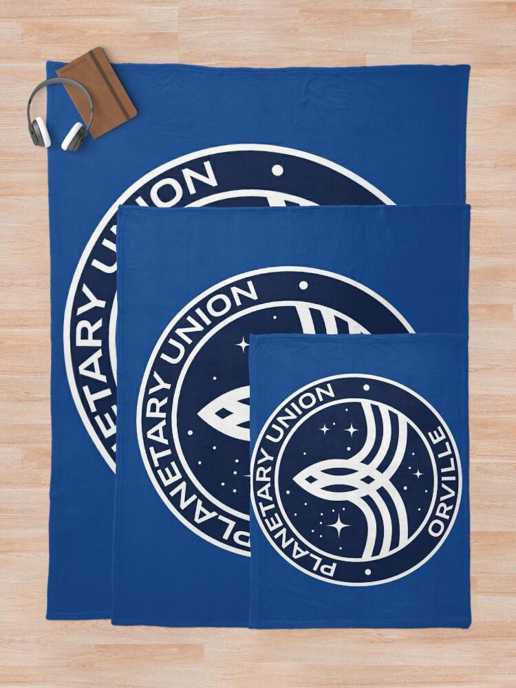 Alternate view of The Orville -  Planetary Union Logo Throw Blanket